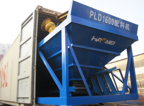concrete batch Plant packing shipping